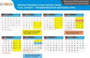 Kalender Perkuliahan Sem Genap MAKSI PPAk 2016 2017
